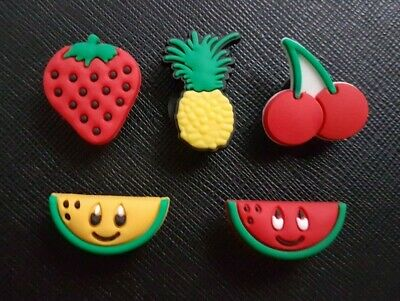 5 x Fruit Shoe Charms Made For Croc shoes Crocs Jibbitz Charm Melon Strawberry