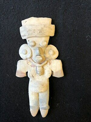 Pre-Columbian Michoacan Pretty Lady Figure, 200 BC - 200 AD, solid clay.  NICE!