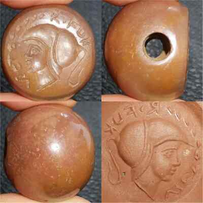 Roman Old Queen Seal Jasper stone intaglio Beautiful Bead #28