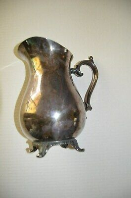 Antique Silver Plated Pitcher 9 1/4 Inches Tall Vintage WM Rogers 915 MN0271200