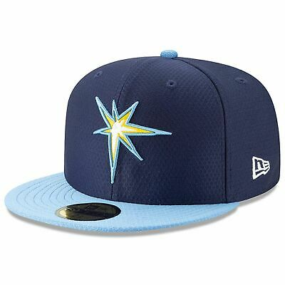 [11900016] Mens New Era MLB 2019 Batting Practice 59FIFTY Fitted Tampa Bay Rays