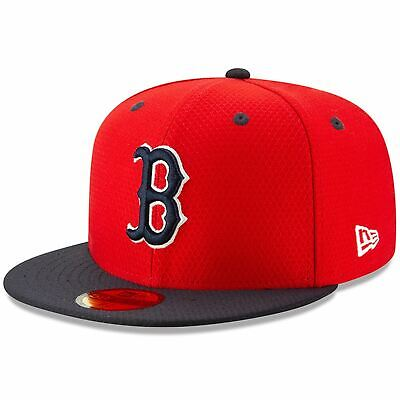 [11900051] Mens New Era MLB 2019 Batting Practice 59FIFTY Fitted Boston Red Sox