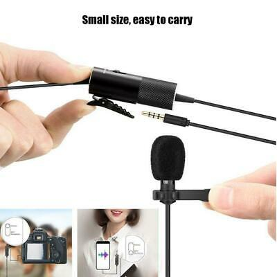 5.8m Condenser Lavalier Microphone 3.5mm Lapel Clip-on Mic for iPhone & Android