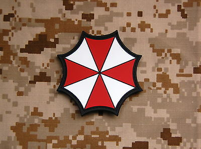 PVC Resident Evil Umbrella Corporation Patch VELCRO® Brand Hook Backing