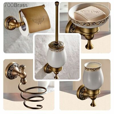 Towel Ring Paper Holder Rack Soap Dish Faucet Antique Brass Bathroom Accessories