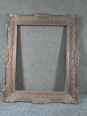 """ANTIQUE 19thc.CHINESE EXPORT HAND CARVED port PAINTING FRAME, FITS 24X19"""" INCHES"""