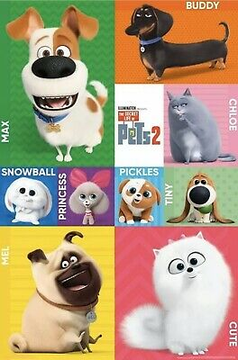 SECRET LIFE OF PETS 2 - CHARACTER GRID POSTER - 22x34 - MOVIE 17361