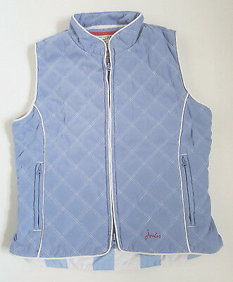 JOULES Joule Quilted Bodywarmer Gilet Satin Blue Girl Age 8 YEARS 134CM