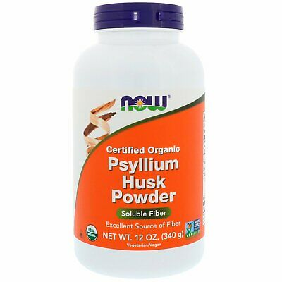 Certified Organic, Psyllium Husk Powder, 12 oz (340 g) - Now Foods