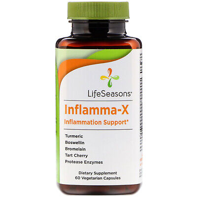 Inflamma-X, Inflammation Support, 60 Vegetarian Capsules - LifeSeasons