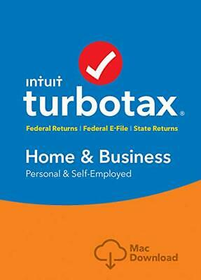 TurboTax Home & Business 2018 Federal +State MAC / 17 year ebayer / FAST