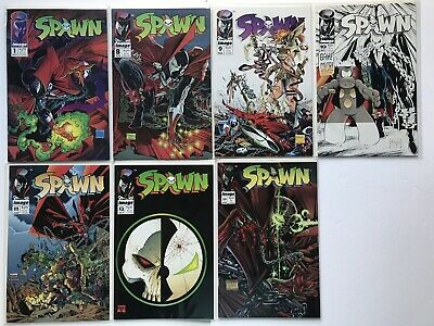 Spawn Image Comic Book Lot Of 7! Issues # 1, 8, 9, 10, 11, 12, 23 Todd McFarlane