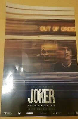 Official Odeon JOKER Poster, Joaquin Phoenix, NEW Cinema 2019 Batman DC A4
