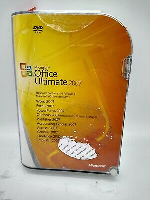 Microsoft Office Ultimate 2007 Home Student 3 PCs GENUINE full retail Win 7 8 10