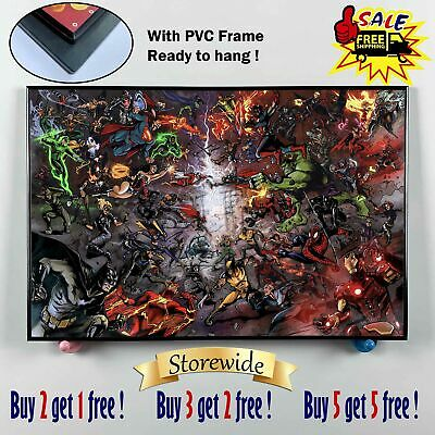"12""x18""Spiderman PVC Frame HD Canvas print Painting Home Decor Picture Wall art"