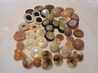 Vintage Mixed Lot of Multi Color Buttons