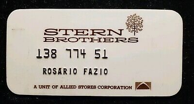 Stern Brothers charge card ♡Free Shipping♡cc268♡ Princess Size