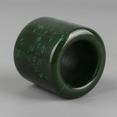 Chinese Exquisite Hand-carved Hetian jade Thumb ring