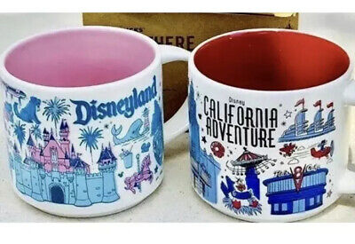 Starbucks Disneyland & Disney California Adventure DCA BEEN THERE Mug Set