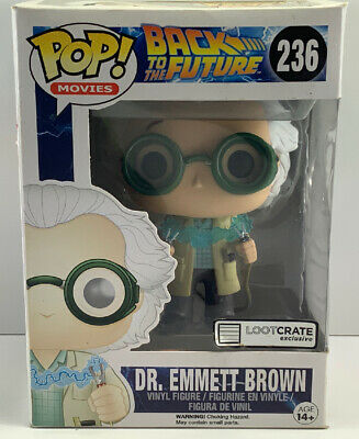 Funko pop Back To The Future #236 Loot Crate Exclusive Dr Emmett brown