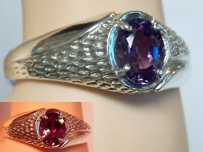 Colorchange Alexandrite Hexagon Shape 925 Sterling Silver Ring Jewelry DGR1096/_C