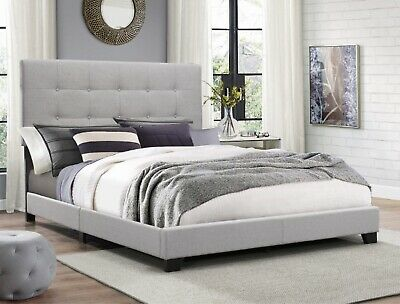 Florence Gray Bed Twin Frame Is Constructed Of Wood Traditional Style Durable
