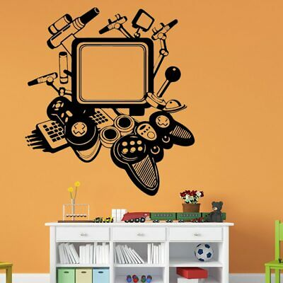 Game Machine Home Decor Wall Stickers for Kids Room Living Room Self Adhesive