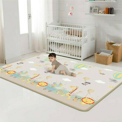 2 Side Baby Play Mat Kids Crawling Educational Soft Foam Baby Carpet 100X180Cm