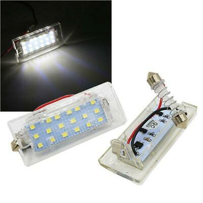 2Pc CANbus White LED Number License Plate Light Lamps 18 SMD 3528 For BMW E53 X5