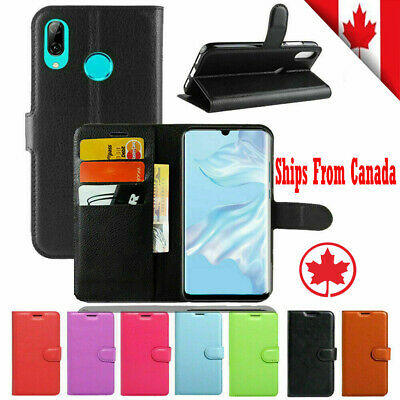 For Huawei P30 Pro Lite Wallet Leather Flip PU Shockproof Card Holder Case Cover