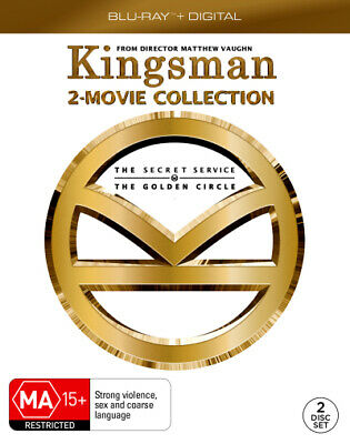 Kingsman: 2-Movie Collection (The Secret Service / The  - BLU-RAY - NEW Region B