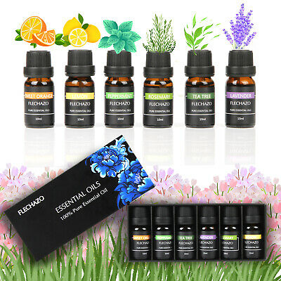 Essential Oil Set 6 Pack 100% Pure Natural Therapeutic Grade Oils Lot 10 ml