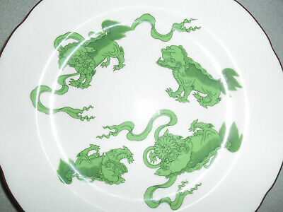 Vintage Wedgwood China - Chinese Tigers Green - Set of 6  8inch Salad Plates