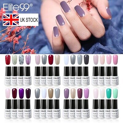 Elite99 Nail Gel Polish 4/6PCS Colour Varnish Manicure Gift Box Set Base Top