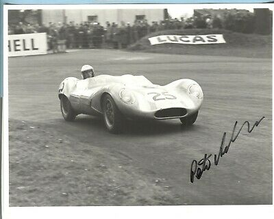 PETER ASHDOWN HAND-SIGNED ORIGINAL B/W PHOTO 1959 LOLA - 1950's> F1 COOPER etc