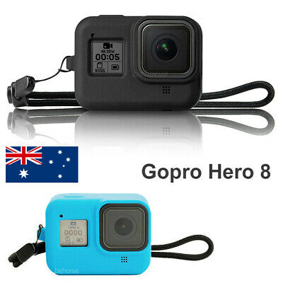 For GoPro HERO 8 Black Camera Case Protective Skin Rubber Soft Cover With Strap