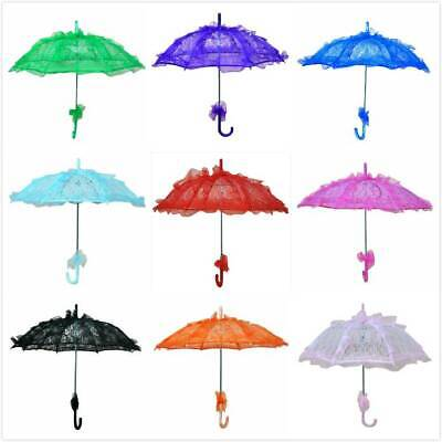 HOT Romantic Lady Embroidery Lace Parasol Umbrella Wedding Bridal Party Decor