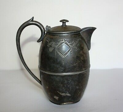 Antique E.P.B.M. Silver Plated Coffee Jug 5700 Made in England