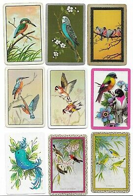 Birds X 36 Only Single Vintage Playing/Swapcards..incl. *Sunbird*