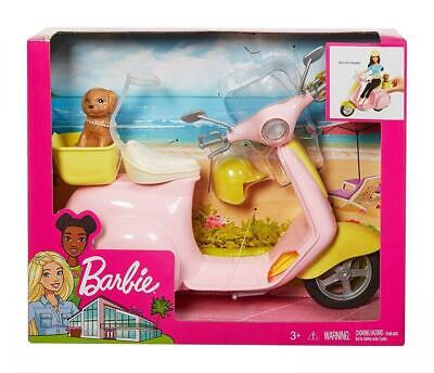 Barbie FRP56 ESTATE Mo-Ped Motorbike for Doll, Pink Scooter, Vehicle,...
