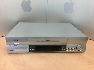 JVC VCR SUPER VHS SVHS VIDEO CASSETTE RECORDER HR-S5955 Silver TESTED WORKING