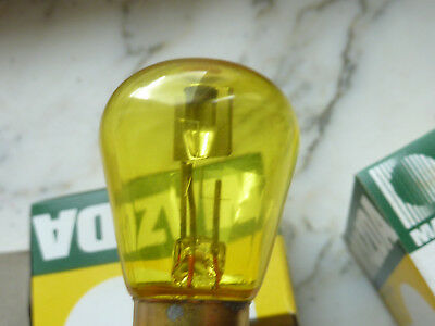 Mazda 2 Lampe jaune 6V 15/15W BA 15 d NEUVE  ampoules  1615 made in France code