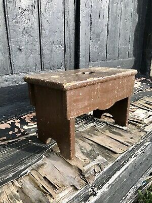 Early 20th Century Charming Country Milking Stool Antique Vintage