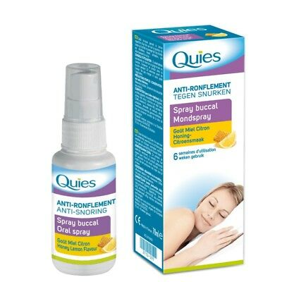 Quies Spray Bucal Anti Ronquidos Sabor Miel / Limón (6 Semanas de Uso)