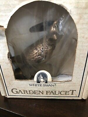 Vintage Solid Brass Quail Spigot Outdoor Garden Hose Water Faucet Spout New USA
