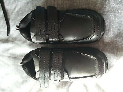 Boys black school shoes with velcro fastening size 13