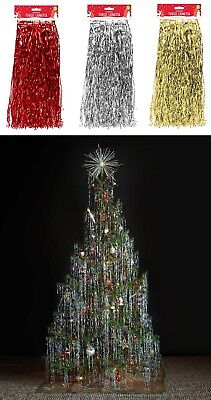 Christmas Tree Decoration LAMETTA Tinsel Angel Hair Icicles Xmas Hanging 1.2M