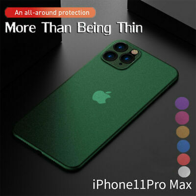0.3mm Ultra-thin Slim Matte Frosted Hard Case Cover For iPhone 11 Pro XS Max X 7