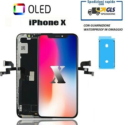Touch Screen Lcd Display Per Apple Iphone X  Vetro Frame Oled Schermo Ricambio
