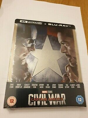 CAPTAIN AMERICA : CIVIL WAR - 4K UHD + Blu-ray ZAVVI  STEELBOOK
